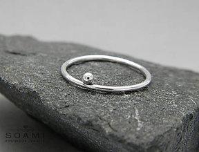 Prstene - Delikátný 925 Strieborný prsteň - 6727922_