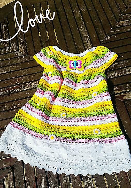 318b18640644 Háčkované šaty-dievčenské č.1   beate1 - SAShE.sk - Handmade Detské ...