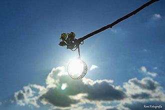 Náhrdelníky - Prívesok Mesiac - drôtik - 6725370_