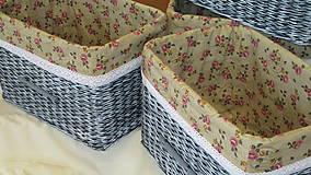 Košíky - Košíky-Patinka s ružičkami - 6726494_