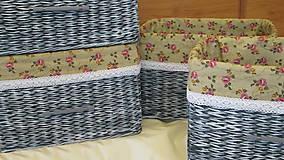 Košíky - Košíky-Patinka s ružičkami - 6726563_