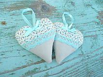 Darčeky pre svadobčanov - Svadobné srdiečka-Mint - 6728369_