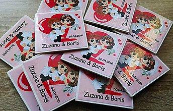 Darčeky pre svadobčanov - svadobné magnetky - 6727498_
