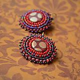 ...red&purple earrings