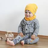 Detské čiapky - Čiapka s nákrčníkom(Žltá) - 6726222_