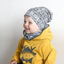 Detské čiapky - Čiapka s nákrčníkom(Ornament) - 6726298_