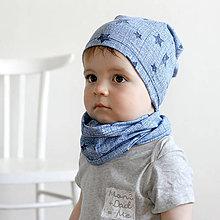 Detské čiapky - Čiapka s nákrčníkom(Little star) - 6726325_