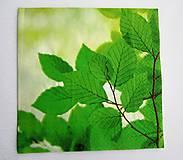 - Servítka P23-  Zelené listy - 6728195_