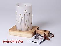 Svietidlá a sviečky - Robustus Svietnik s kvetinovým tienidlom - kvietky jedného druhu - 6725275_