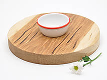 Pomôcky - Robustus Guľatý drevený servírovací lopár - 6727366_