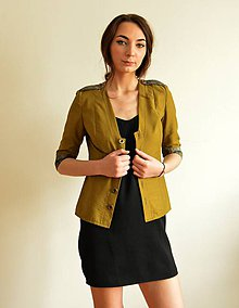 Kabáty - Zelené sako v army štýle - 6728446_