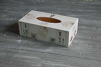 """Krabičky - box na vreckovky """"Levanduľové drobnosti"""" - 6727868_"""