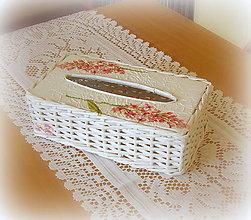 Košíky - Košík - krabička na vreckovky halúzka - 6726483_