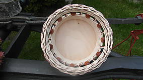 Košíky - Korálkový košík - 6727323_