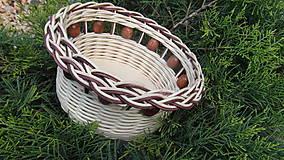 Košíky - Korálkový košík - 6727327_
