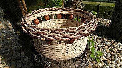 Košíky - Korálkový košík - 6727326_