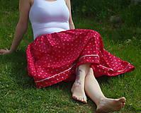 Sukne - červená sukňa - 6725339_