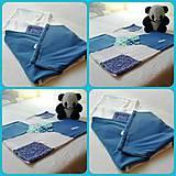 Textil - Modrá detská dečka/zavinovačka - 6724968_