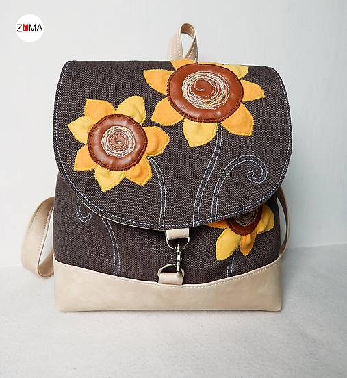 BACKPACK Sunflowers batôžtek menší
