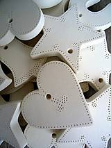 Dekorácie - Ozdoby vianočné biele 20 ks - sada Basic - 6729603_