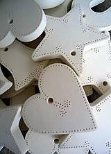 Dekorácie - Ozdoby vianočné biele 20 ks - sada Basic - 6729638_