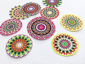 Materiál ručne robený - Mandala I. - nažehlovačky - 9ks - 6729648_
