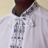 Oblečenie - Folk košeľa modrá - 6732169_