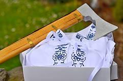 Oblečenie - Folk košeľa modrá - 6732171_