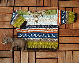 Detské oblečenie - Detský sveter so vzorom - 6730950_