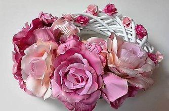 Dekorácie - Veniec z prútia S ružami II. - 6732046_