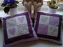 Úžitkový textil - romantické vankúše 1 - 6729016_