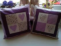 Úžitkový textil - romantické vankúše 1 - 6729018_