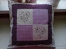 Úžitkový textil - romantické vankúše 1 - 6729024_