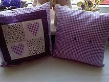 Úžitkový textil - romantické vankúše 1 - 6729025_