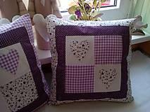 Úžitkový textil - romantické vankúše 1 - 6729037_