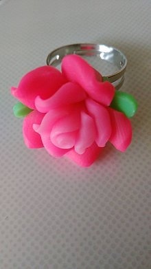 Prstene - Prsteň ružový - 6730061_