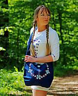 Dámska plátená kabelka maľovaná, folk PASTIERKA