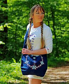 Kabelky - Dámska plátená kabelka maľovaná, folk PASTIERKA - 6729530_