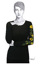 - Maľované tričko s kvetmi pivonky - Paeonia - 6729883_