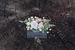 Ozdoby do vlasov - Nežný kvetinový hrebienok