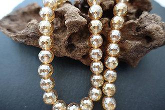 Minerály - Krištál s perleťou svetlejší fazetovaný 10mm - 6732444_