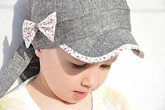 Detské čiapky - Letná pirátka ľan - 6732416_