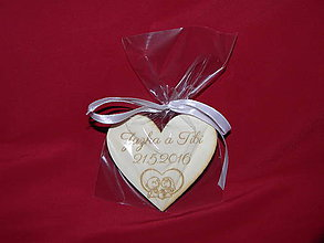 Darčeky pre svadobčanov - Balenie do celofanu + mašlička - 6728989_