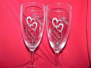 Nádoby - Svadobné poháre gravírované 2 - 6729334_
