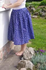 Sukne - Modrá sukňa - 6729719_