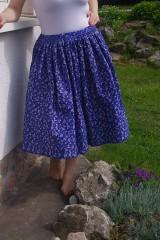 Sukne - Modrá sukňa - 6729720_