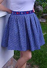 Sukne - Mini sukňa modrá - 6731073_