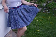Sukne - Mini sukňa modrá - 6731074_