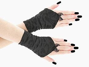 Iné doplnky - Dámské čierne rukavice,  spoločenské rukavičky  0755 - 6735981_