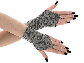 Iné doplnky - Dámské šedé rukavice, spoločenské rukavičky  0755A - 6735990_